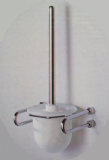 Metlex Mercury Frosted Glass / Chrome Toilet Brush Holder - 01016123